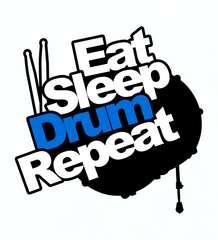 Eat Sleep Drum Repeat - Mens - V-Neck - Small to 3XL