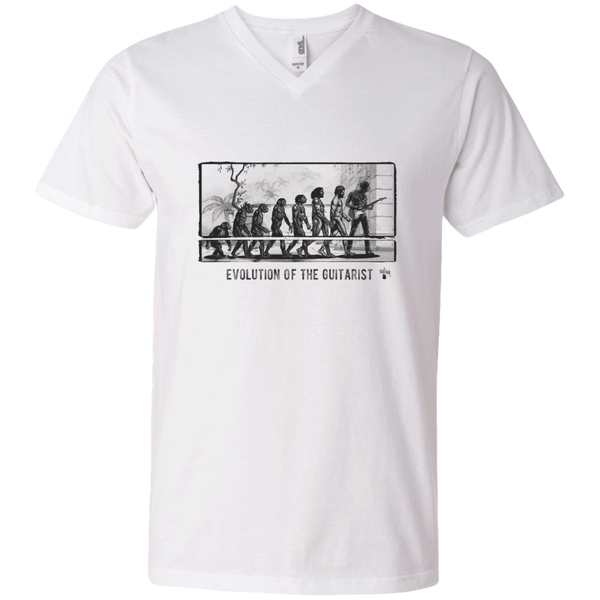 Evolution of the Guitarist - Mens - V-Neck - Small to 3XL