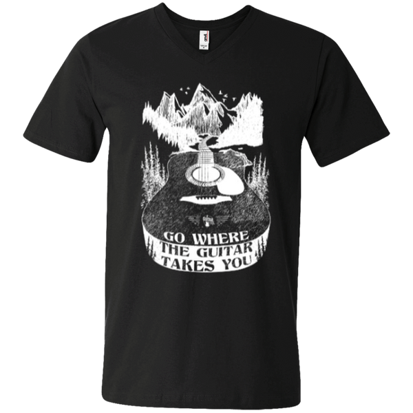 Go Where The Guitar Takes You (Version 1) - Mens - V-Neck - Small to 3XL