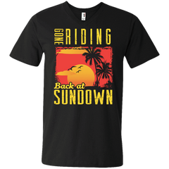 Gone Riding Back At Sundown - Mens - V-Neck - Small to 3XL