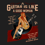 Guitar Is Like A Good Woman - Mens - V-Neck - Small to 3XL