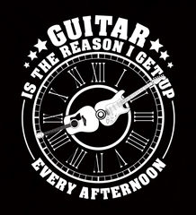 Guitar Is The Reason I Get Up Every Afternoon - Mens - V-Neck - Small to 3XL