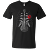 Guitar Skeleton - Mens - V-Neck - Small to 3XL