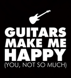 Guitars Make Me Happy You, Not So Much - Mens - V-Neck - Small to 3XL