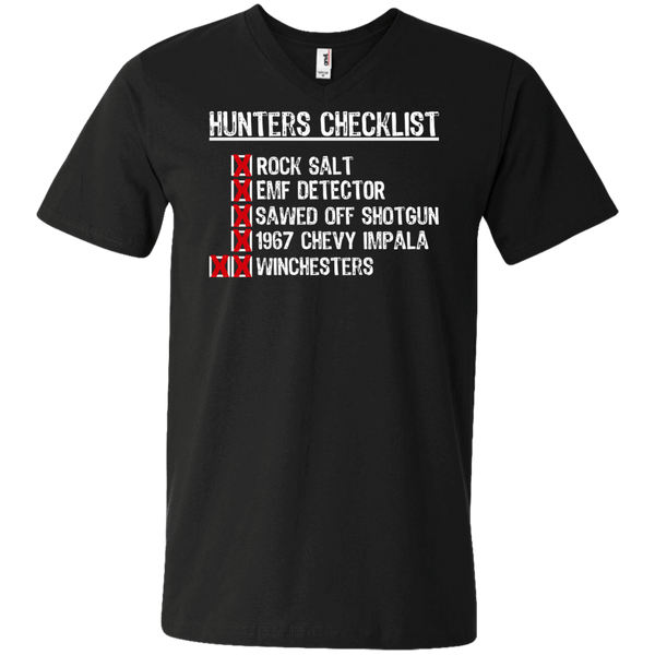 Hunters Checklist - Mens - V-Neck - Small to 3XL