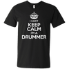 I Can't Keep Calm, I'm a Drummer! - Mens - V-Neck - Small to 3XL