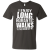 I Enjoy Long Romantic Walks to the Drum Kit - Mens - V-Neck - Small to 3XL