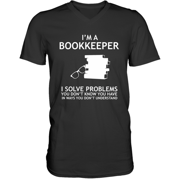 I'M A Bookkeeper - Mens - V-Neck - Small to 3XL