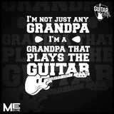 I'm Not Just Any Grandpa. I'm A Grandpa That Plays The Guitar - Mens - V-Neck - Small to 3XL