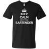 Keep Calm And Tip Your Bartender - Mens - V-Neck - Small to 3XL