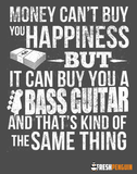 Money CAN Buy Happiness - Bass Guitars! - Mens - V-Neck - Small to 3XL