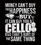 Money CAN Buy Happiness - Cellos! - Mens - V-Neck - Small to 3XL