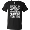 Money CAN Buy Happiness - Guitars! - Mens - V-Neck - Small to 3XL