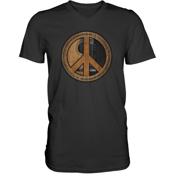 Peace Symbol (Guitar) - Mens - V-Neck - Small to 3XL