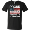 Proud To Serve My Country - Mens - V-Neck - Small to 3XL
