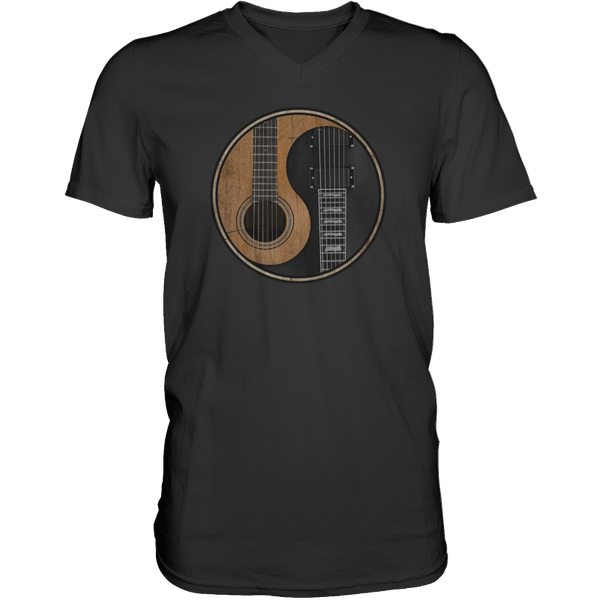Yin Yang Guitar - Mens - V-Neck - Small to 3XL