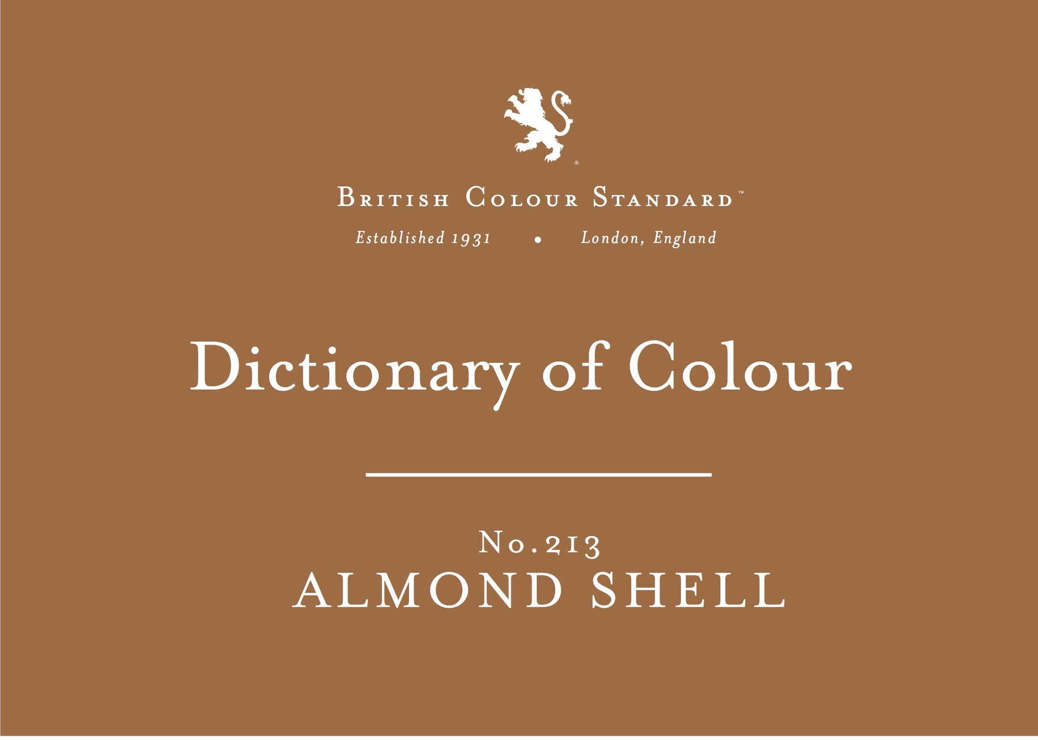 BRITISH COLOUR STANDARD - Almond Shell No.213