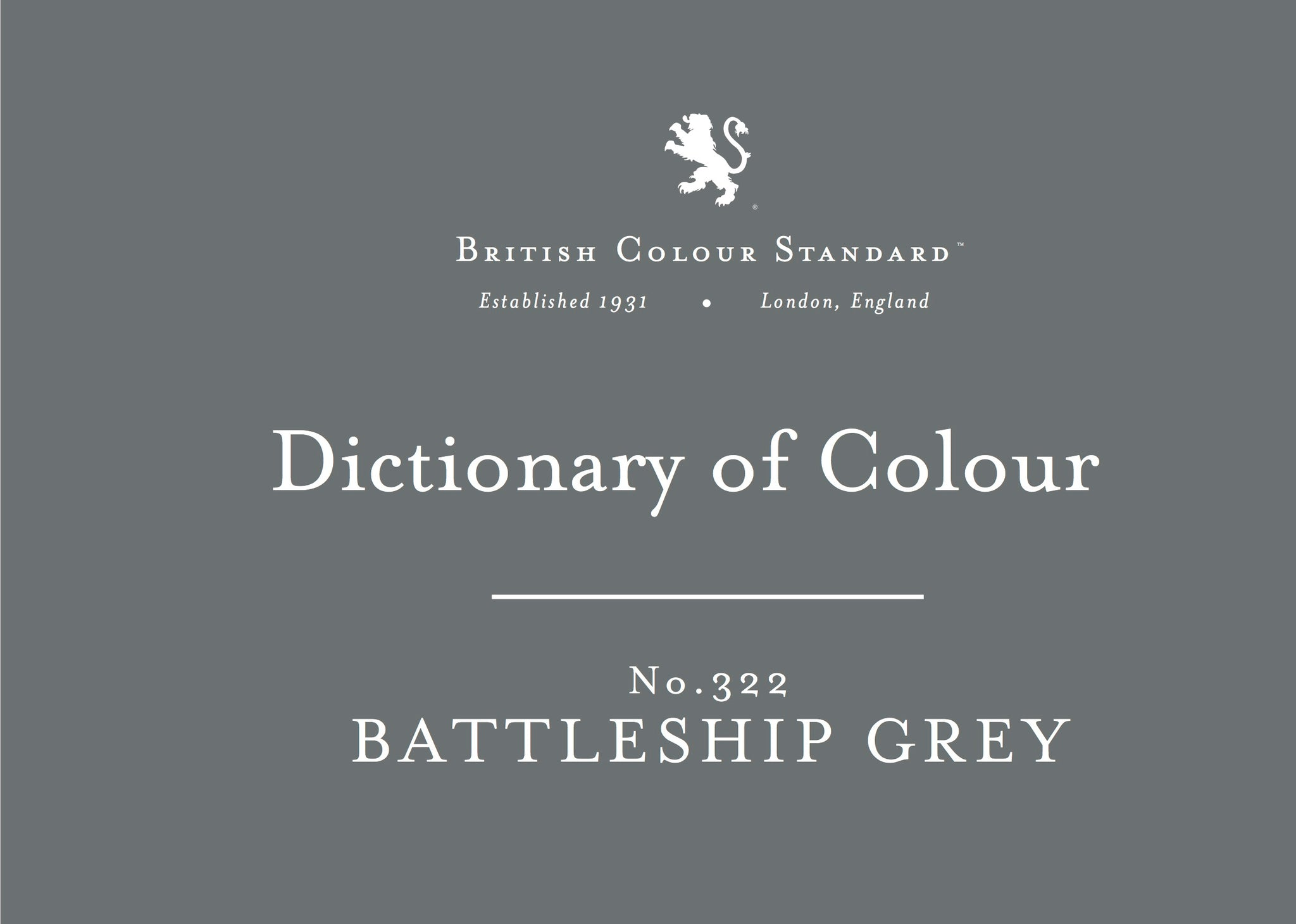 BRITISH COLOUR STANDARD - Battleship Grey No.370