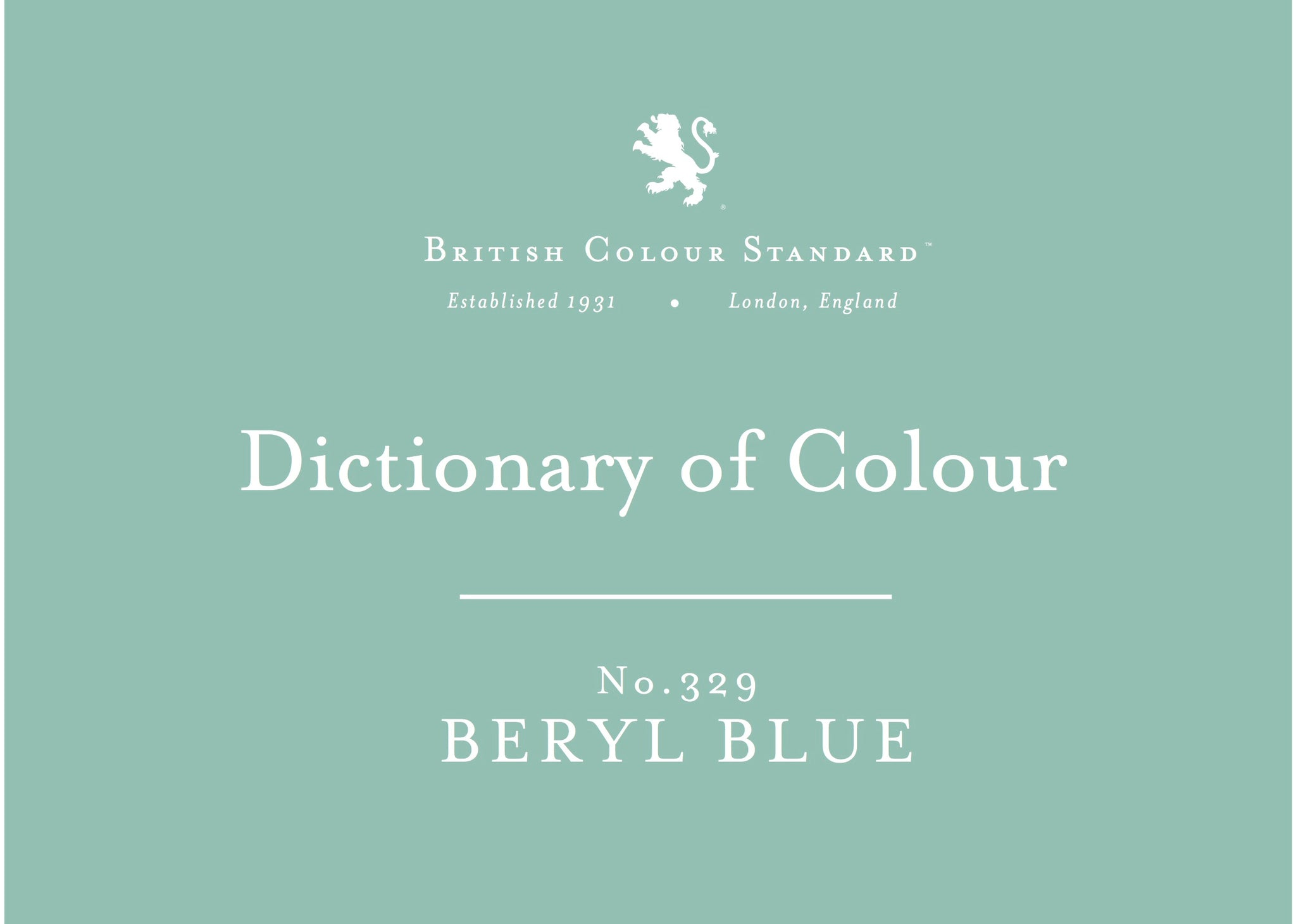 BRITISH COLOUR STANDARD - Beryl Blue No.329