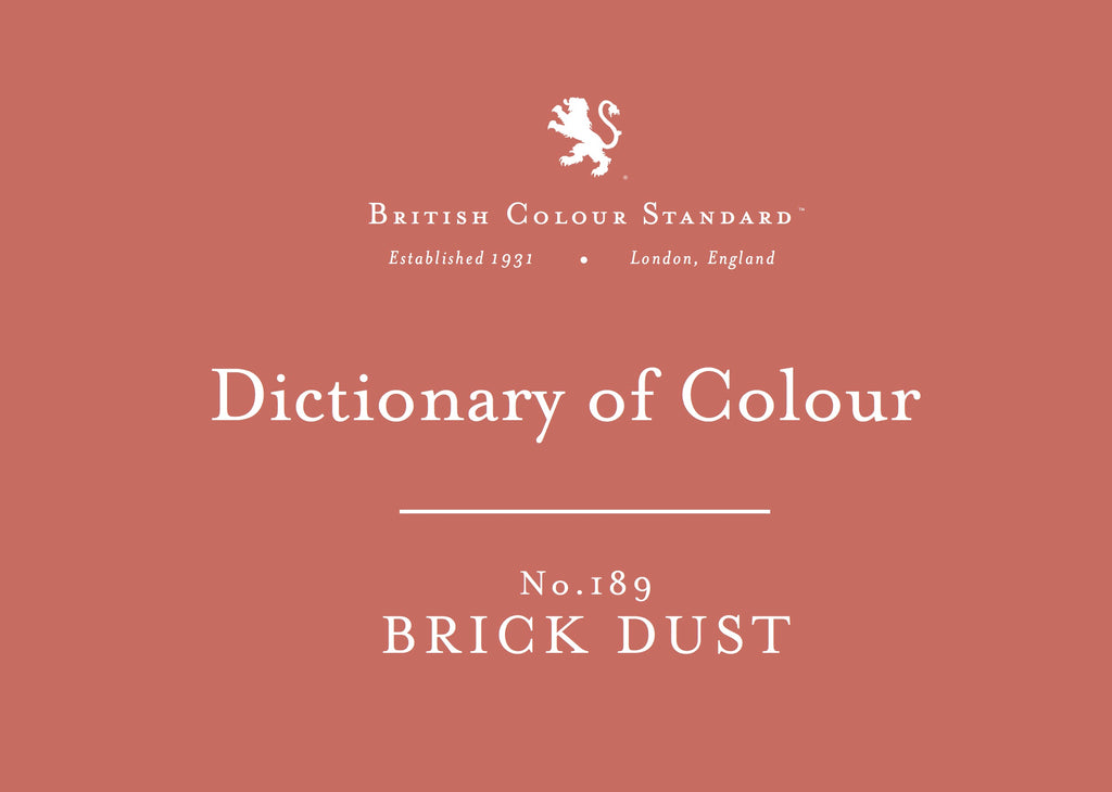 BRITISH COLOUR STANDARD - Brick Dust No.189
