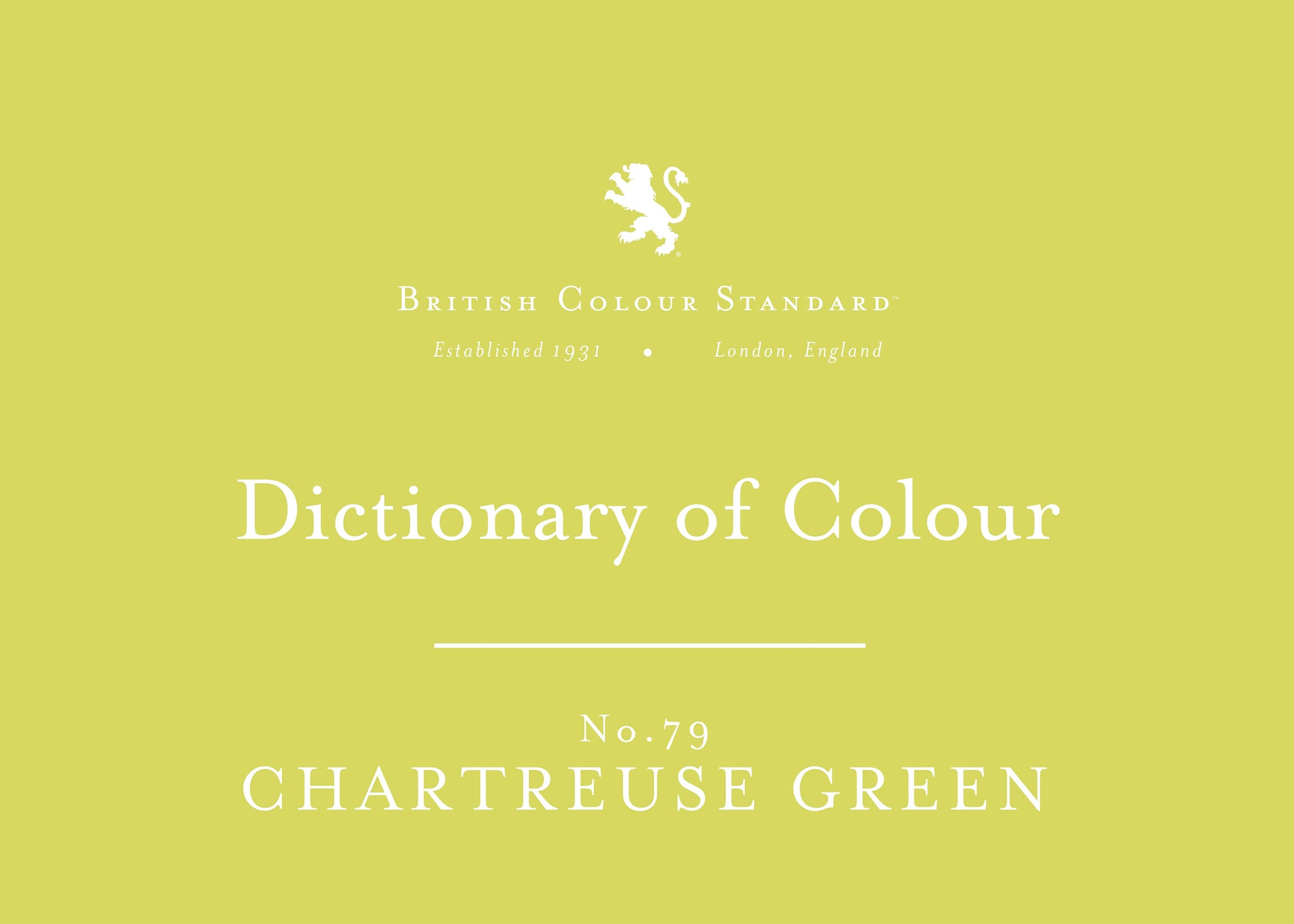 BRITISH COLOUR STANDARD - Chartreuse Green No.79