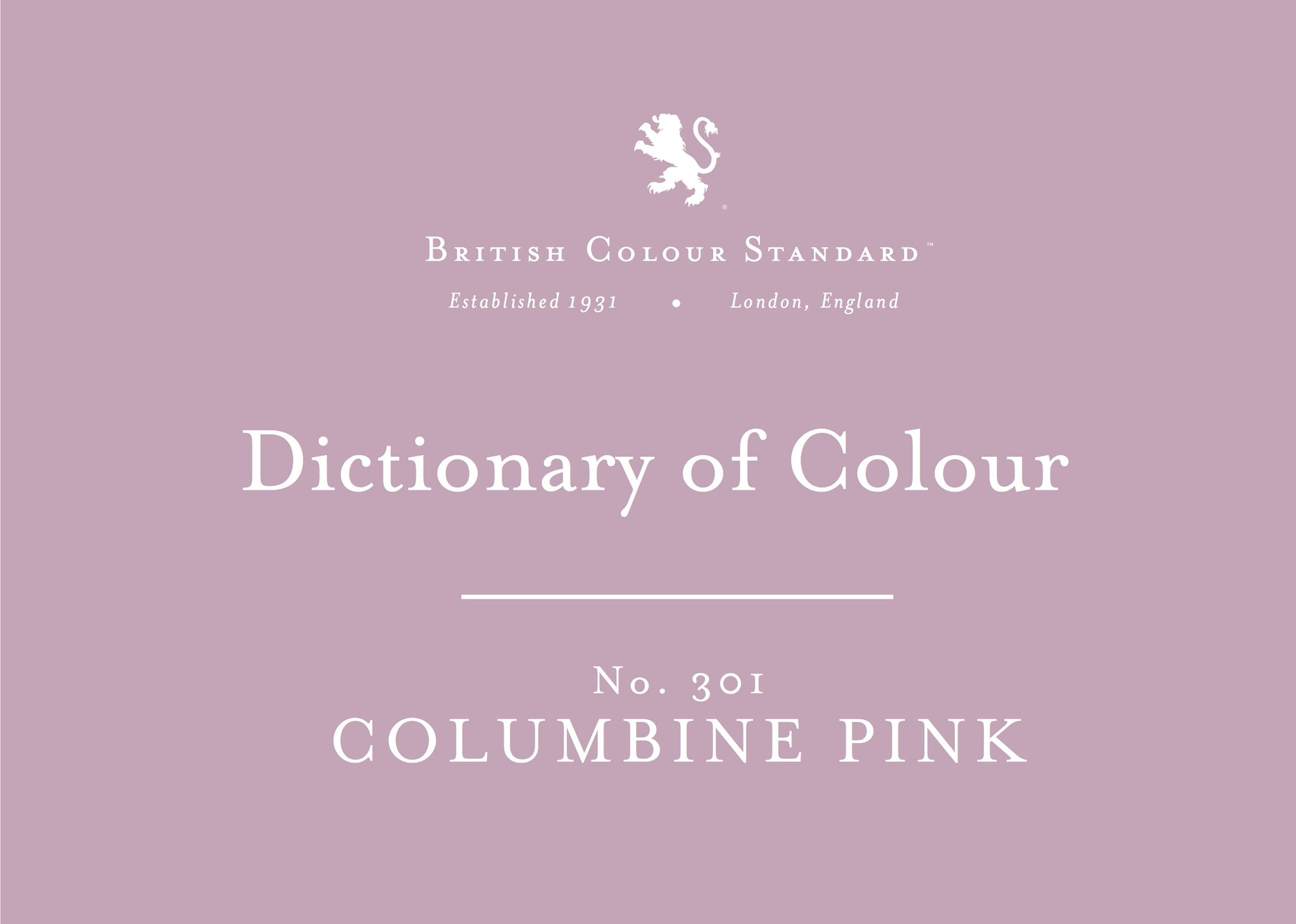 BRITISH COLOUR STANDARD - Columbine Pink No. 301