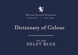 BRITISH COLOUR STANDARD - Delft Blue No.144