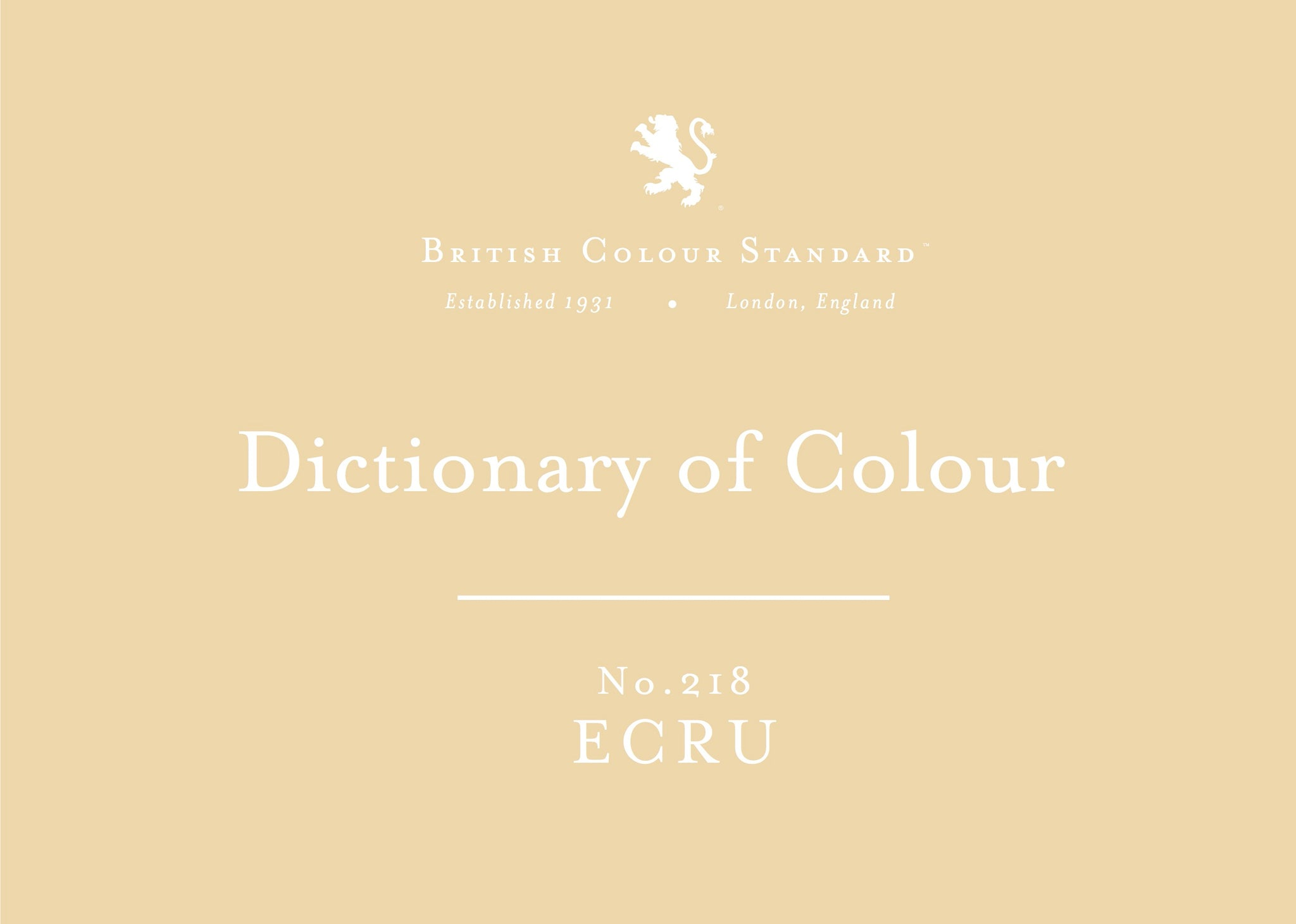 BRITISH COLOUR STANDARD - Ecru No. 218
