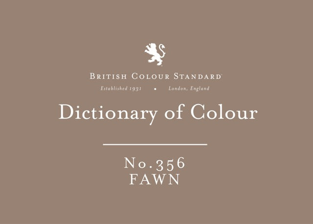 BRITISH COLOUR STANDARD - Fawn No. 356