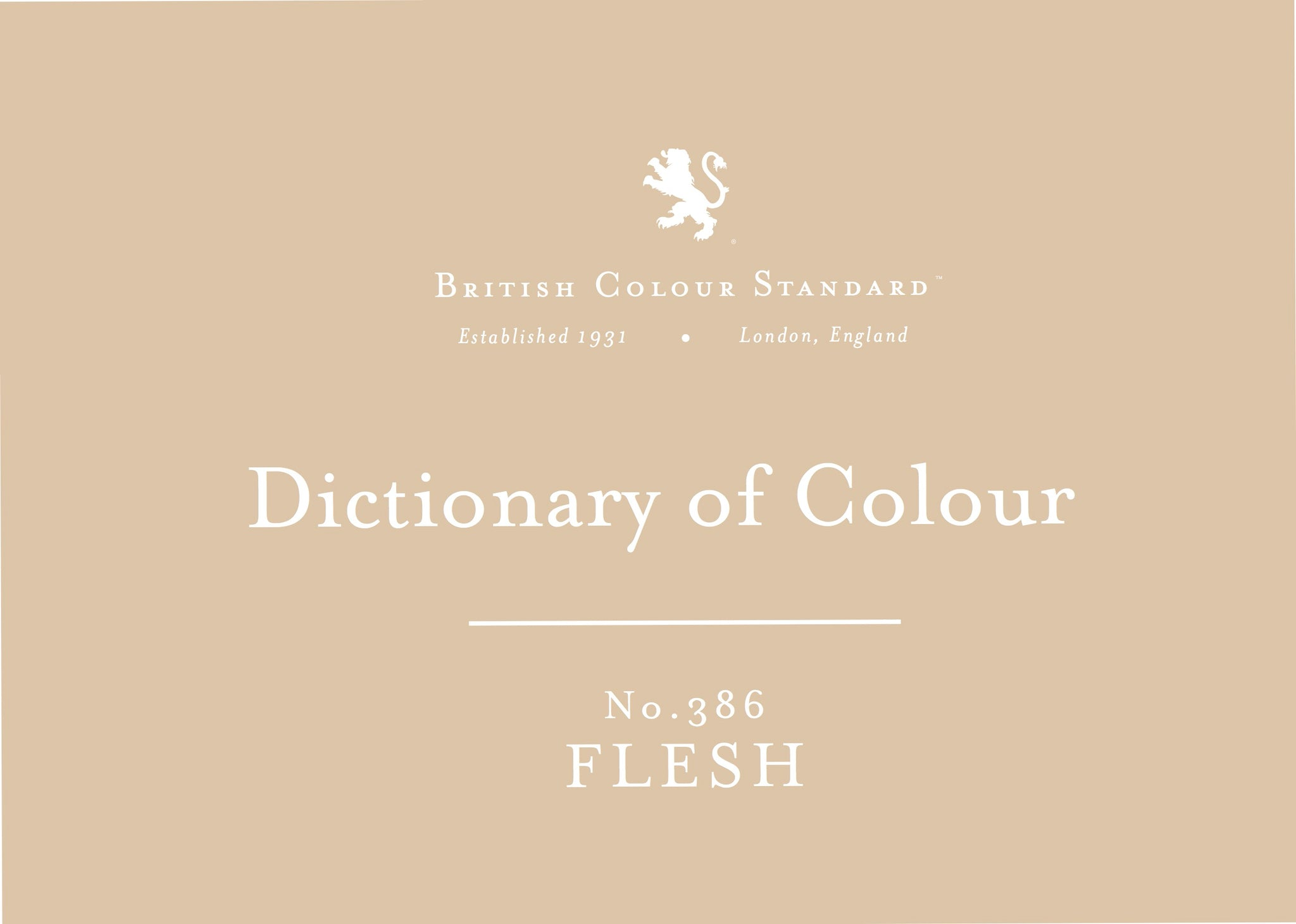 BRITISH COLOUR STANDARD - Flesh No. 386