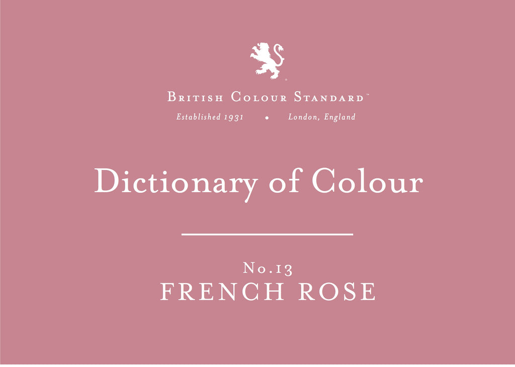 BRITISH COLOUR STANDARD - French Rose No. 13