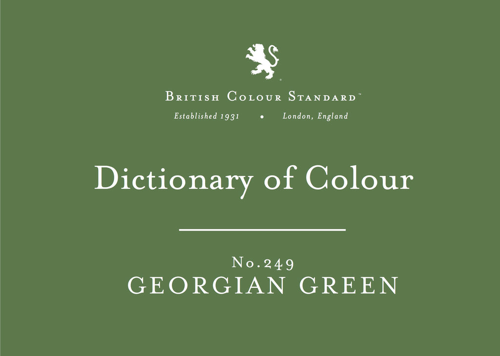 BRITISH COLOUR STANDARD - Georgian Green No. 249