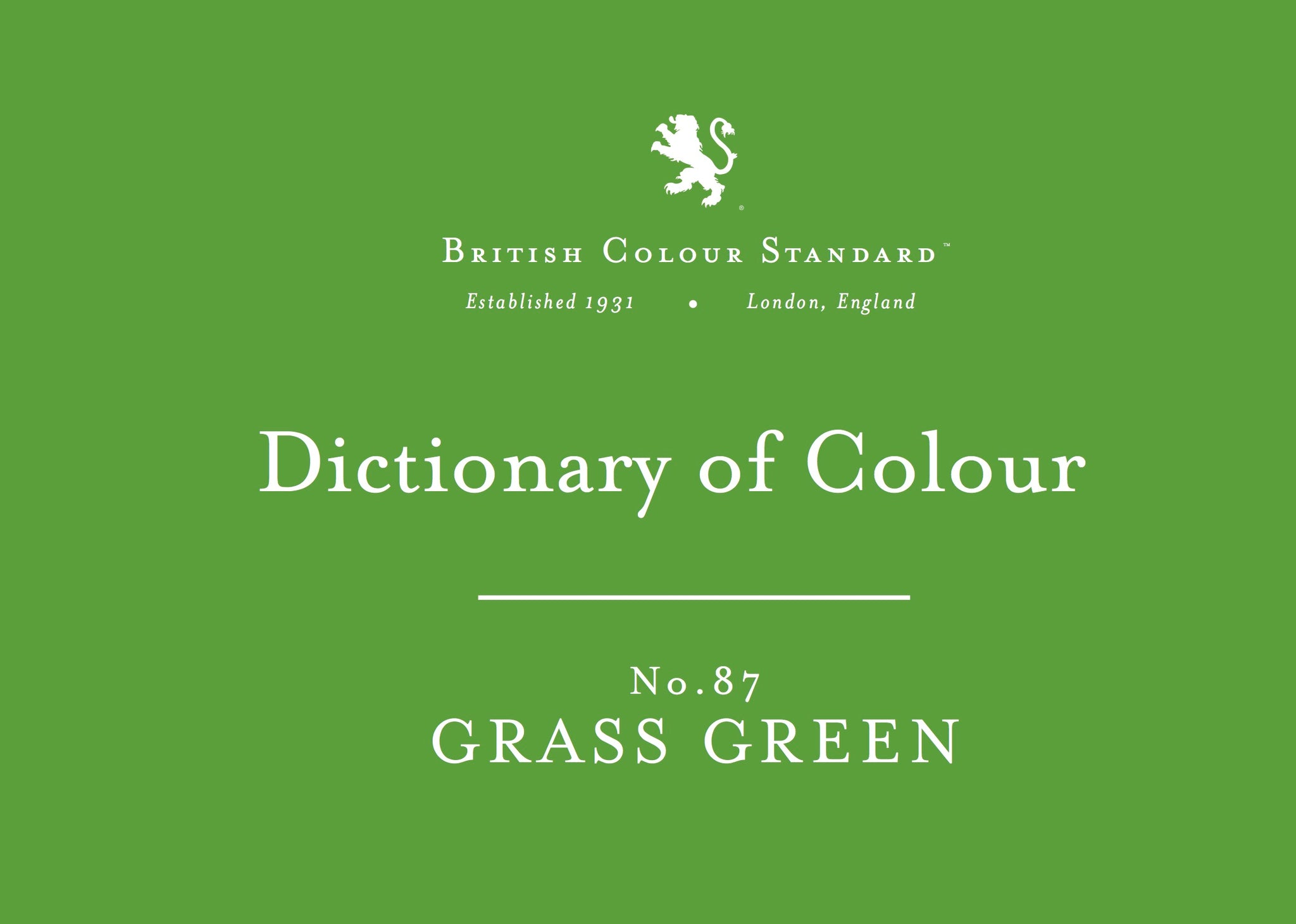BRITISH COLOUR STANDARD - Grass Green No. 87