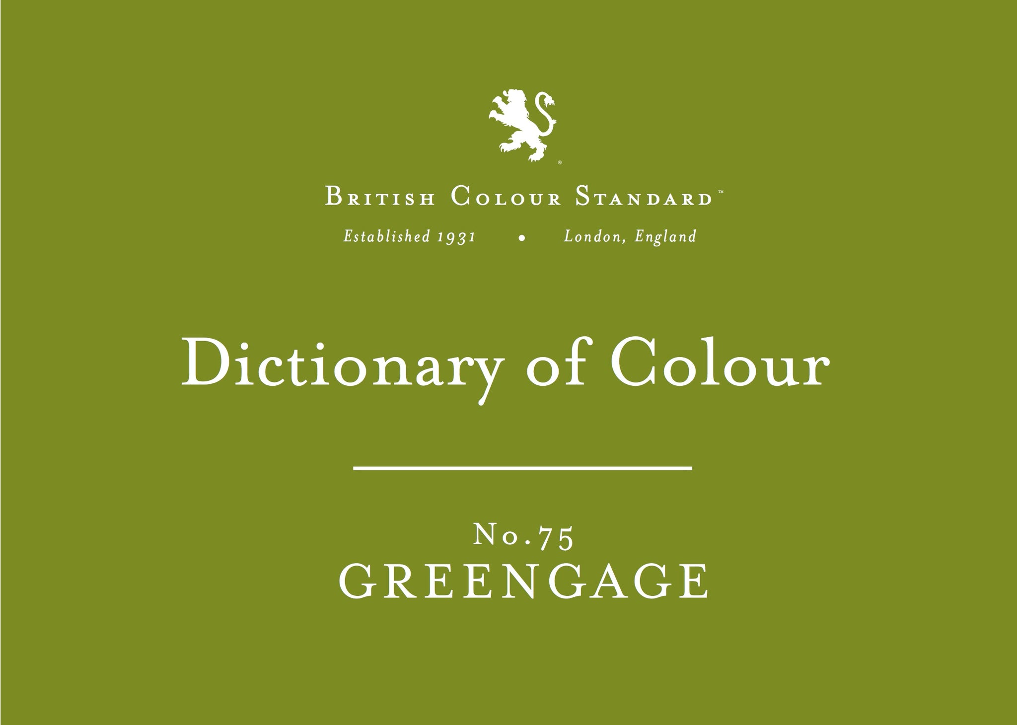 BRITISH COLOUR STANDARD - Greengage NO. 75