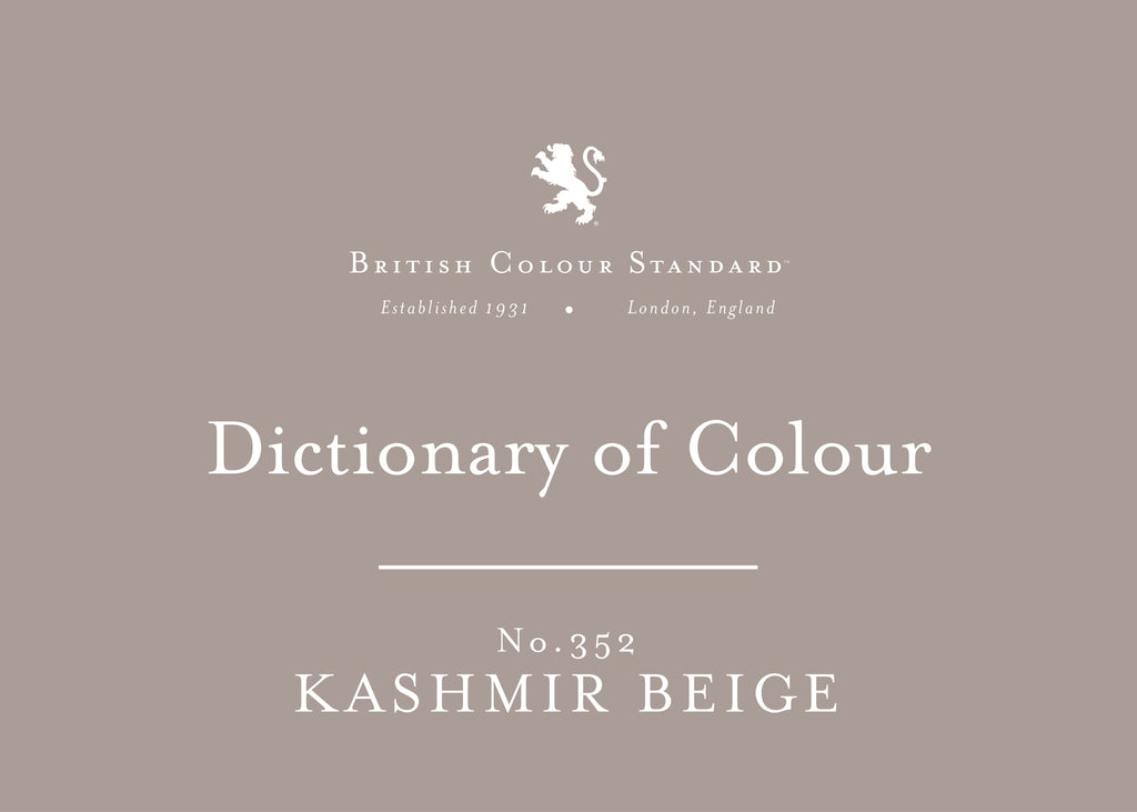 BRITISH COLOUR STANDARD - Kashmir Beige No. 352