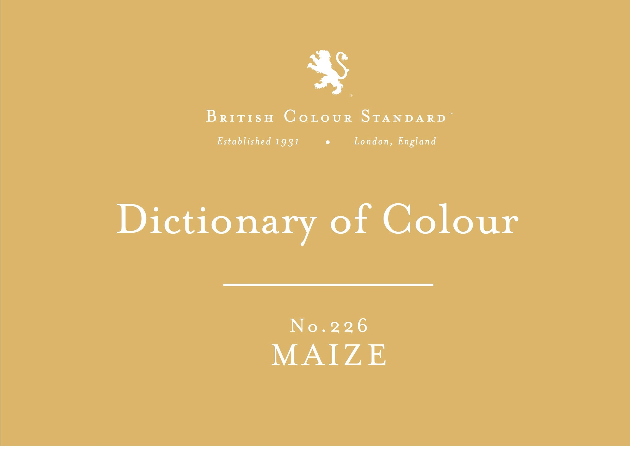 BRITISH COLOUR STANDARD - Maize No.226