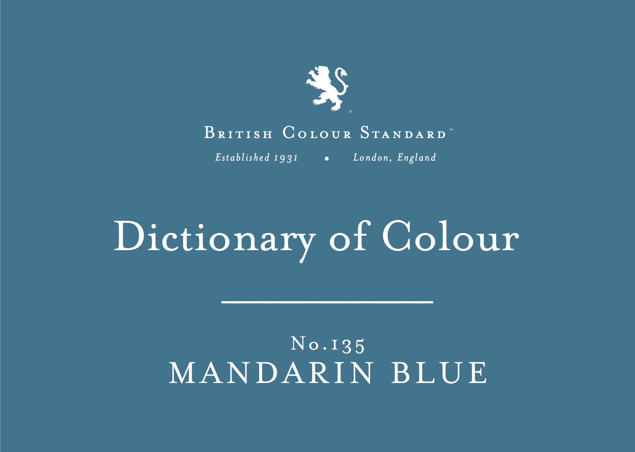BRITISH COLOUR STANDARD - Mandarin Blue No. 135