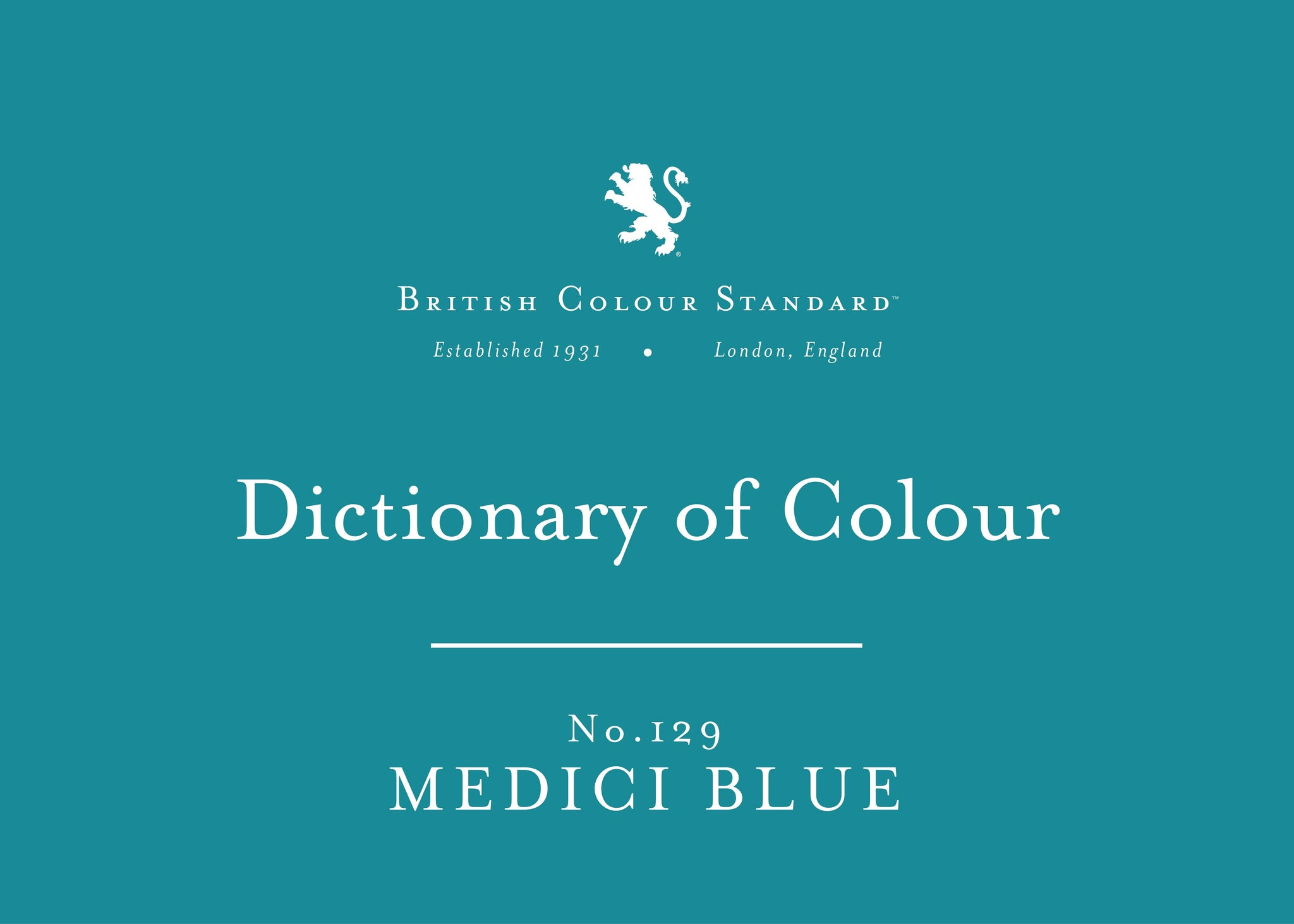 BRITISH COLOUR STANDARD - Medici Blue No.129