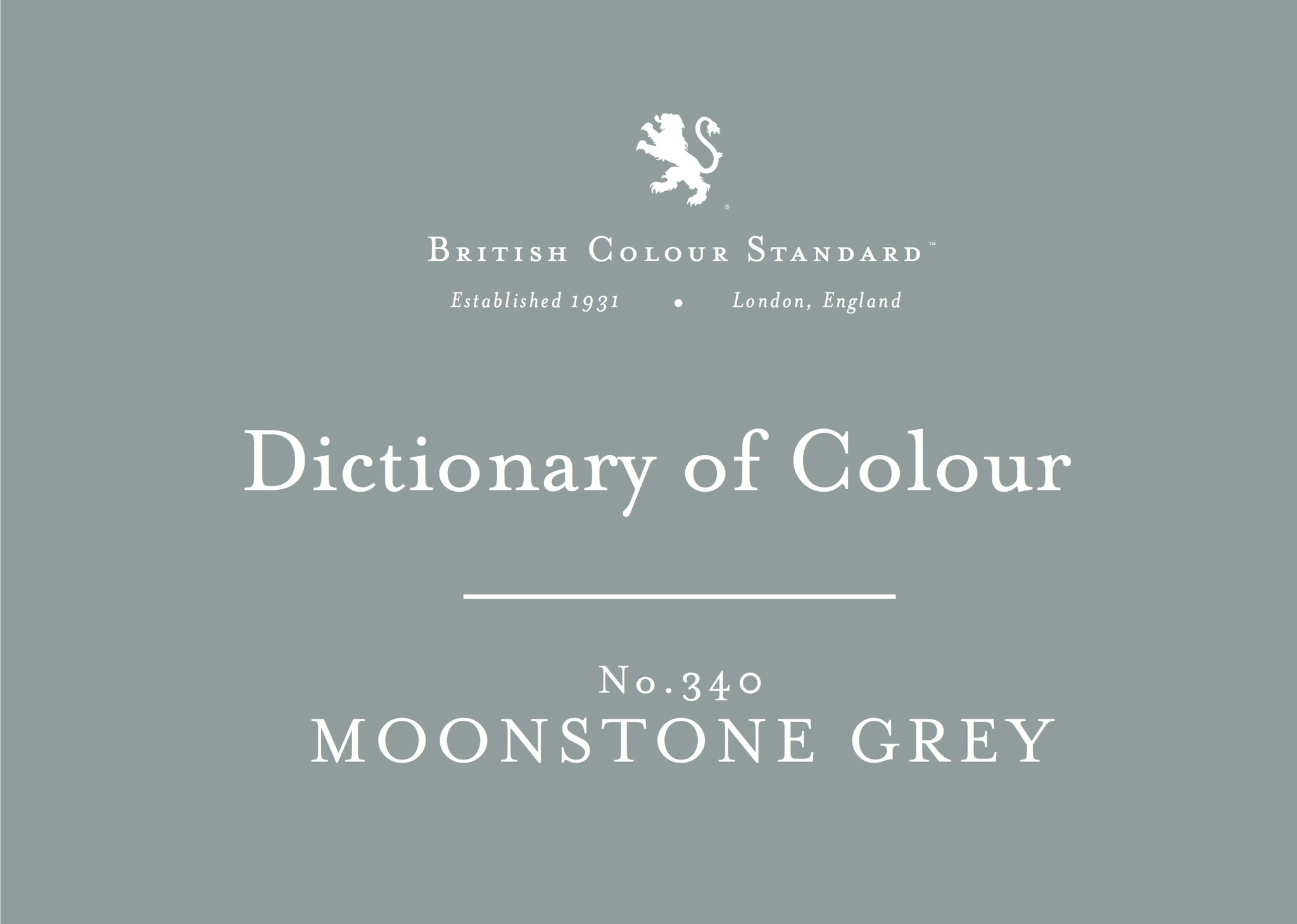 BRITISH COLOUR STANDARD - Moonstone Grey No. 340