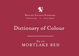 BRITISH COLOUR STANDARD - Mortlake Red No. 10