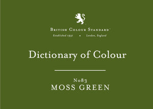 BRITISH COLOUR STANDARD - Moss Green No. 83
