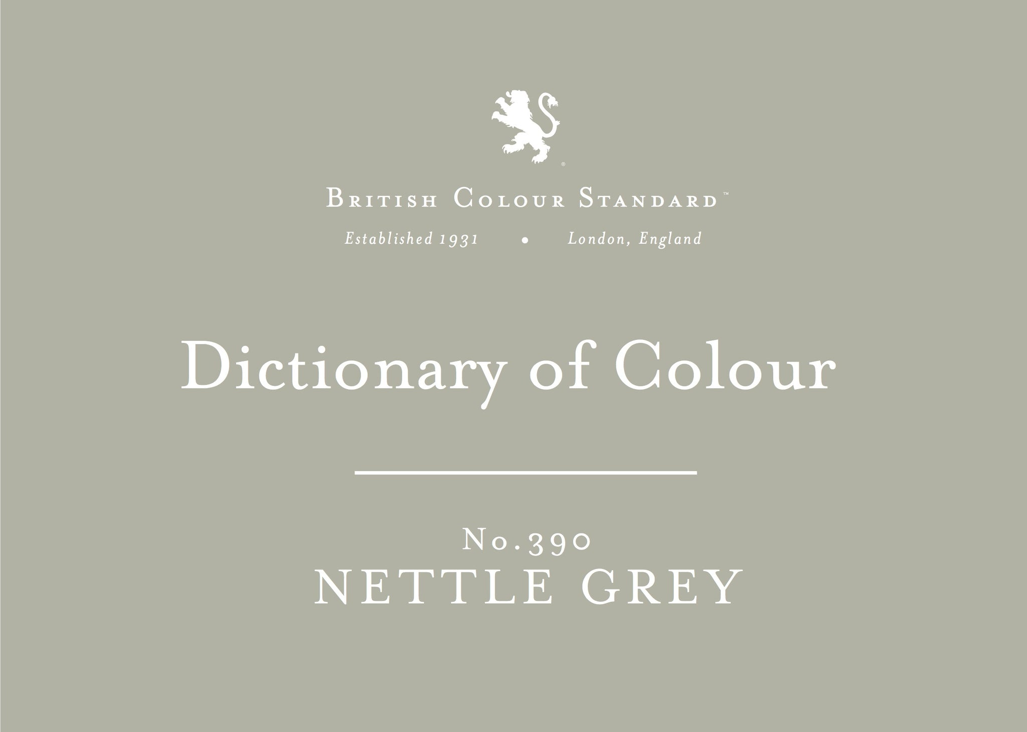 BRITISH COLOUR STANDARD - Nettle Grey No. 390