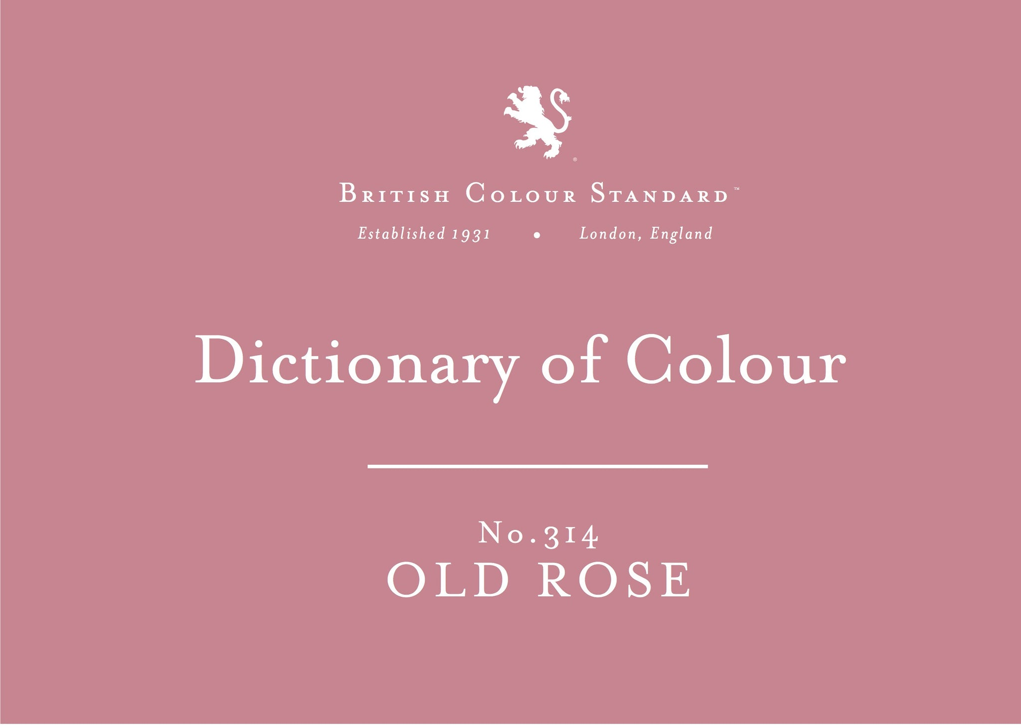 BRITISH COLOUR STANDARD - Old Rose No. 314