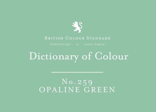 BRITISH COLOUR STANDARD - Opaline Green No. 259