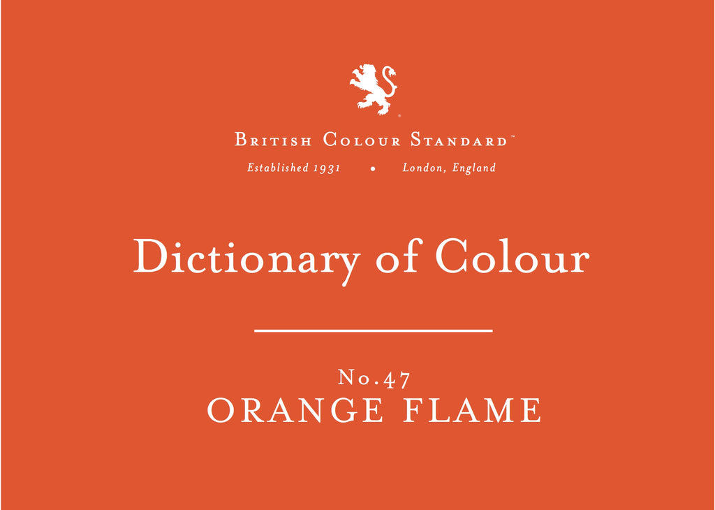 BRITISH COLOUR STANDARD - Orange Flame No. 47