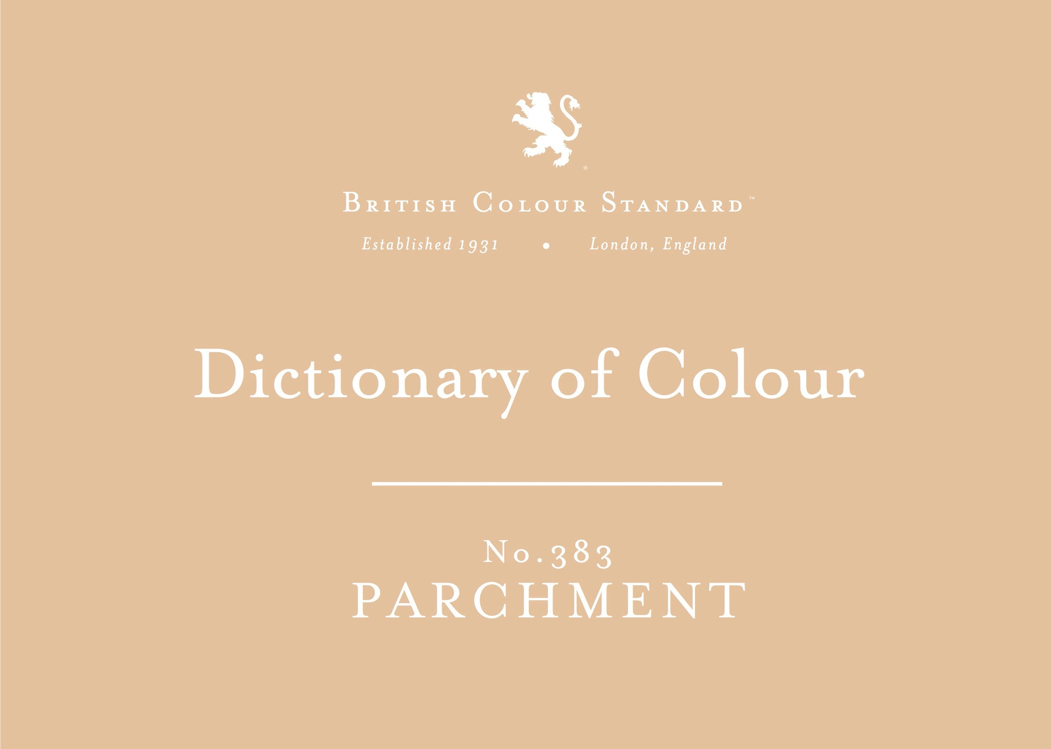 BRITISH COLOUR STANDARD - Parchment No. 383
