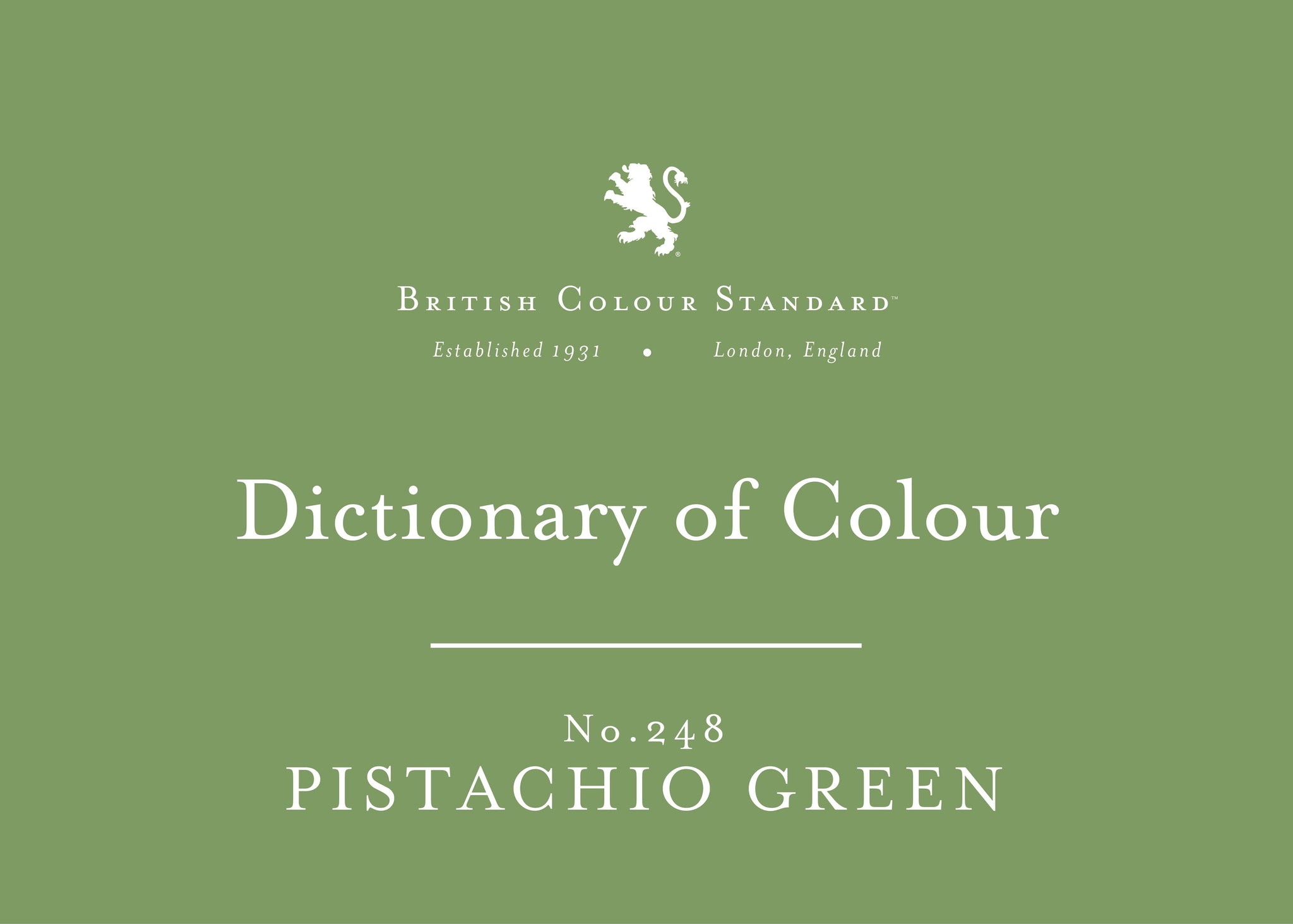 BRITISH COLOUR STANDARD - Pistachio No.248