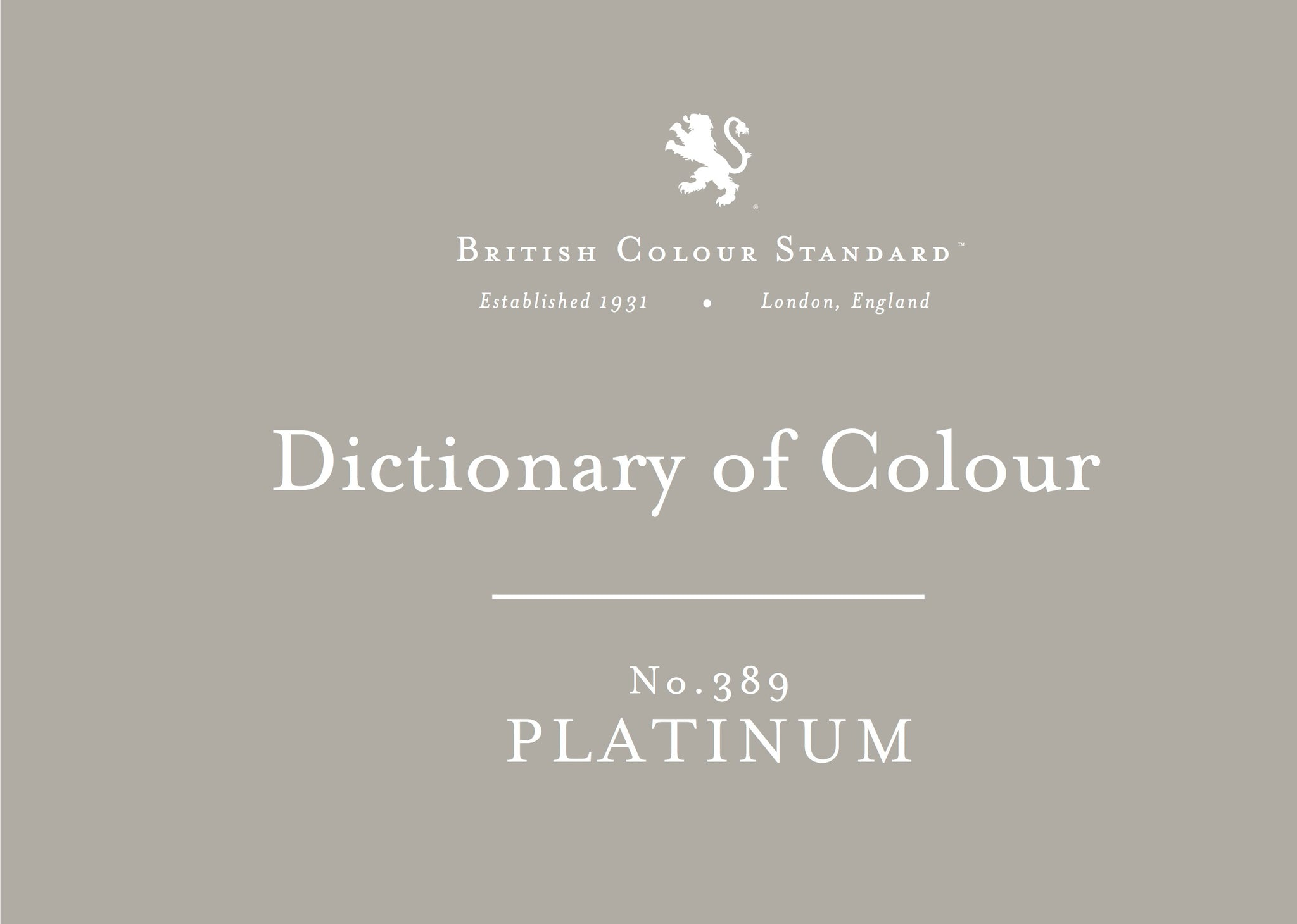BRITISH COLOUR STANDARD - Platinum No.389