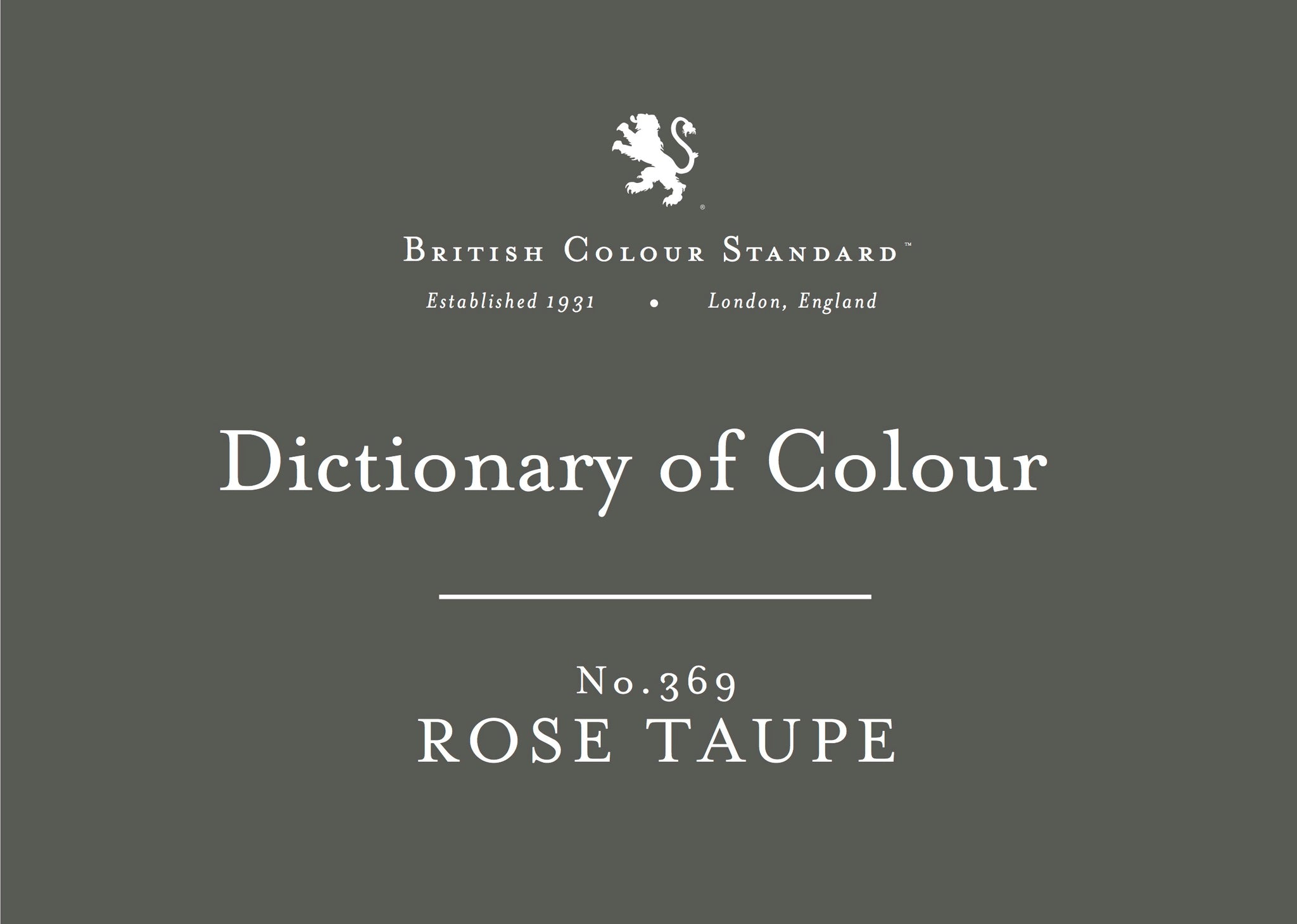 BRITISH COLOUR STANDARD - Rose Taupe No. 369