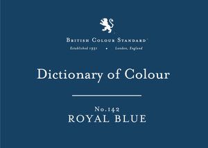BRITISH COLOUR STANDARD - Royal Blue No. 142